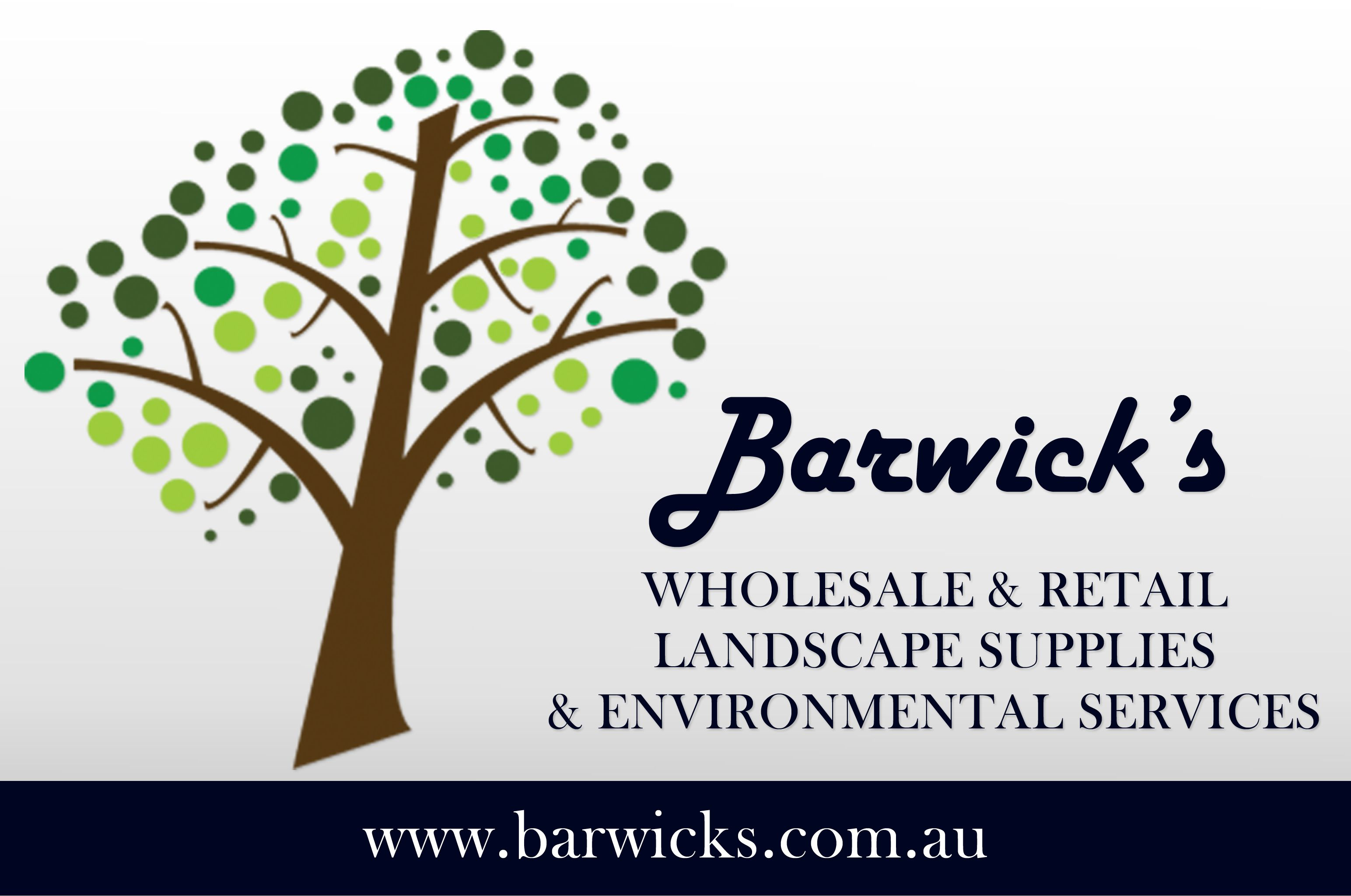 Barwicks landscape supplies banner
